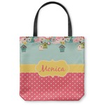 Easter Birdhouses Canvas Tote Bag (Personalized)