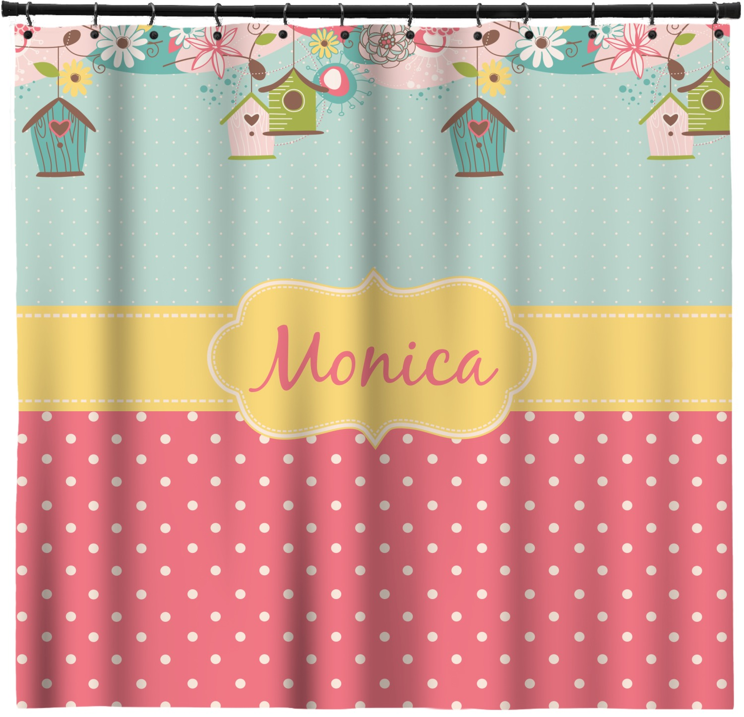 Easter Birdhouses Shower Curtain Custom Width Height Personalized Youcustomizeit