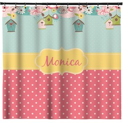 Easter Birdhouses Shower Curtain (Personalized)