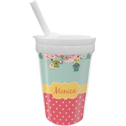 Easter Birdhouses Sippy Cup with Straw (Personalized)