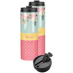 Easter Birdhouses Stainless Steel Skinny Tumbler (Personalized)