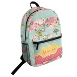 Easter Birdhouses Student Backpack (Personalized)