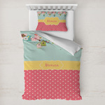 Easter Birdhouses Toddler Bedding w/ Name or Text