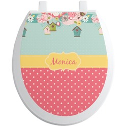 Easter Birdhouses Toilet Seat Decal (Personalized)