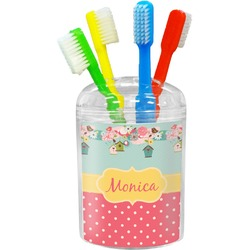 Easter Birdhouses Toothbrush Holder (Personalized)
