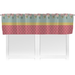 Easter Birdhouses Valance (Personalized)
