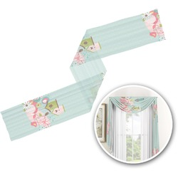 Easter Birdhouses Window Sheer Scarf Valance (Personalized)