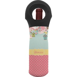 Easter Birdhouses Wine Tote Bag (Personalized)
