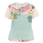 Easter Birdhouses Women's Crew T-Shirt (Personalized)