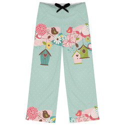Easter Birdhouses Womens Pajama Pants (Personalized)