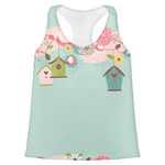 Easter Birdhouses Womens Racerback Tank Top (Personalized)