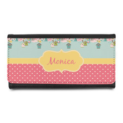 Easter Birdhouses Leatherette Ladies Wallet (Personalized)