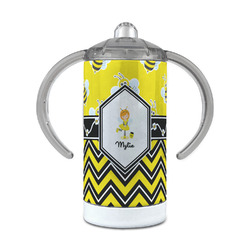 Buzzing Bee 12 oz Stainless Steel Sippy Cup (Personalized)