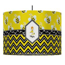 Buzzing Bee Drum Pendant Lamp (Personalized)