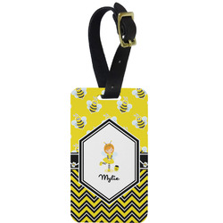Buzzing Bee Aluminum Luggage Tag (Personalized)