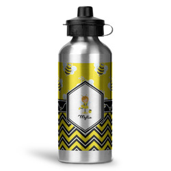 Buzzing Bee Water Bottle - Aluminum - 20 oz (Personalized)