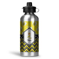 Buzzing Bee Water Bottle - Aluminum - 20 oz (Personalized)