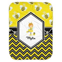 Buzzing Bee Baby Swaddling Blanket (Personalized)