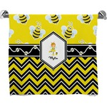Buzzing Bee Full Print Bath Towel (Personalized)