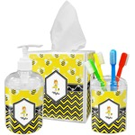 Buzzing Bee Acrylic Bathroom Accessories Set w/ Name or Text
