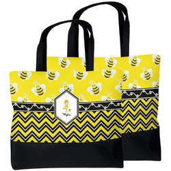 Buzzing Bee Beach Tote Bag (Personalized)
