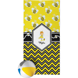 Buzzing Bee Beach Towel (Personalized)
