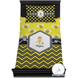 Buzzing Bee Duvet Cover Set - Twin (Personalized)