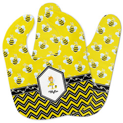 Buzzing Bee Baby Bib w/ Name or Text