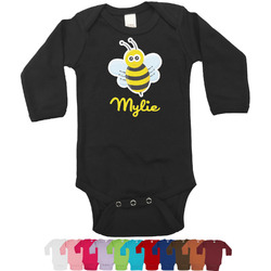 Buzzing Bee Long Sleeves Bodysuit - 12 Colors (Personalized)