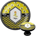 Buzzing Bee Cabinet Knob (Black) (Personalized)