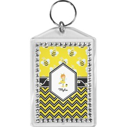 Buzzing Bee Bling Keychain (Personalized)