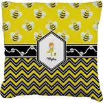 Buzzing Bee Faux-Linen Throw Pillow (Personalized)