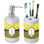 Buzzing Bee Bathroom Accessories Set (Ceramic) (Personalized)