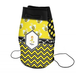 Buzzing Bee Neoprene Drawstring Backpack (Personalized)