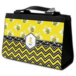 Buzzing Bee Classic Tote Purse w/ Leather Trim (Personalized)