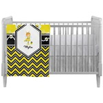 Buzzing Bee Crib Comforter / Quilt (Personalized)
