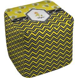 Buzzing Bee Cube Pouf Ottoman (Personalized)