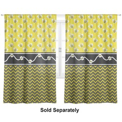 "Buzzing Bee Curtains - 20""x63"" Panels - Lined (2 Panels Per Set) (Personalized)"