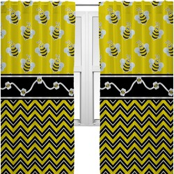 Buzzing Bee Curtains (2 Panels Per Set) (Personalized)