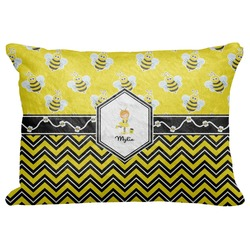 "Buzzing Bee Decorative Baby Pillowcase - 16""x12"" (Personalized)"