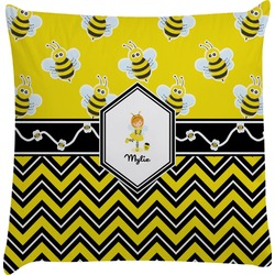 Buzzing Bee Decorative Pillow Case (Personalized)