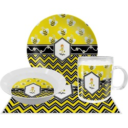 Buzzing Bee Dinner Set - 4 Pc (Personalized)