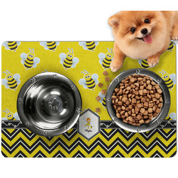 Buzzing Bee Dog Food Mat - Small w/ Name or Text
