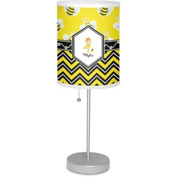 """Buzzing Bee 7"""" Drum Lamp with Shade (Personalized)"""