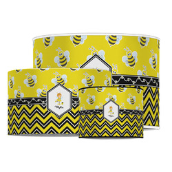 Buzzing Bee Drum Lamp Shade (Personalized)