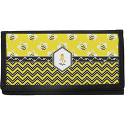 Buzzing Bee Canvas Checkbook Cover (Personalized)