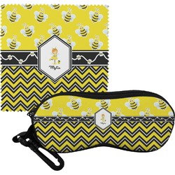 Buzzing Bee Eyeglass Case & Cloth (Personalized)