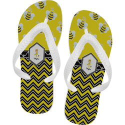 Buzzing Bee Flip Flops (Personalized)