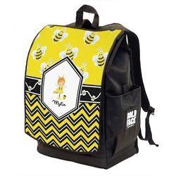 Buzzing Bee Backpack w/ Front Flap  (Personalized)