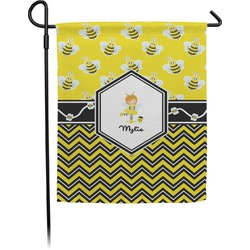 Buzzing Bee Garden Flag (Personalized)